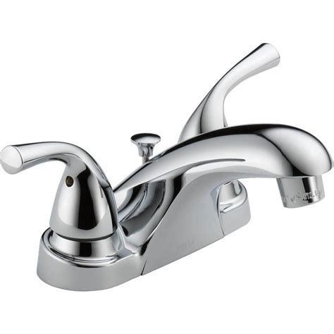 faucet for sink in bathroom shop delta foundations chrome 2 handle 4 in centerset