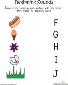 Beginning Letter Sounds Worksheets Kindergarten