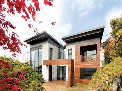 desain rumah ala korea modern hunian mungil  nyaman