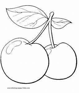Free coloring pages of fruit tree