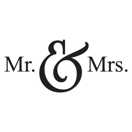 Mr. & Mrs. Wall Quotes™ Decal | WallQuotes.com