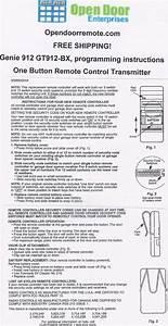 Genie Garage Door Opener User Guide