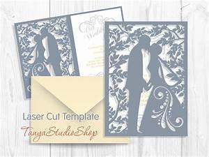 wedding invitation svg dxf ai crd eps studio3 With laser cut wedding invitations dxf