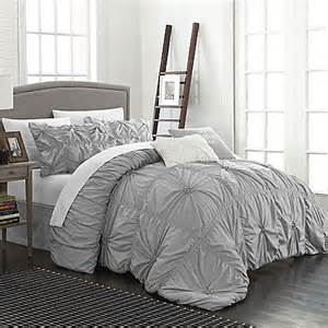 buy chic home hilton 6 piece queen comforter set in silver from bed bath beyond