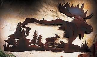 Moose Rustic Metal Wall Art