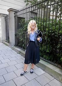 Plisserad kjol outfit