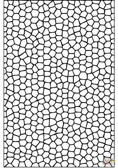 Coloring Mosaic Pages Pattern Tiles Printable Paper