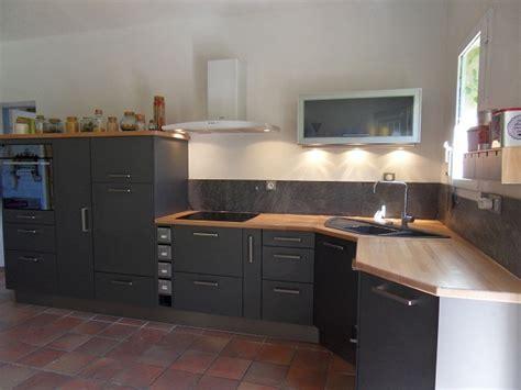 cuisine grise plan de travail bois plan travail cuisine plan de travail cuisine design bois