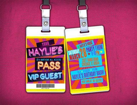 retro neon vip pass backstage pass concert ticket
