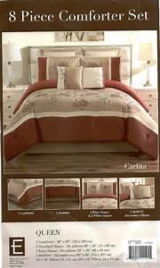 8  Pc Embroidered Comforter Set  U0026quot Carlita U0026quot
