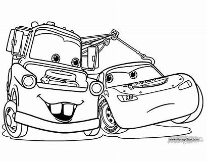 Coloring Cars Pixar Disney Pages Mcqueen Mater