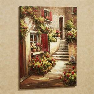 wall art ideas design flowers contemporary italian wall With best brand of paint for kitchen cabinets with canvas floral wall art