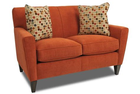 Loveseat Definition by Bedecked In A Bold Orange Hue The Gatsby Loveseat Is