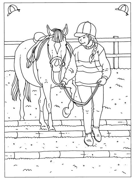 Paardrijden Kleurplaat by Pin Gloria Borges Op Embroidery Horses Etc