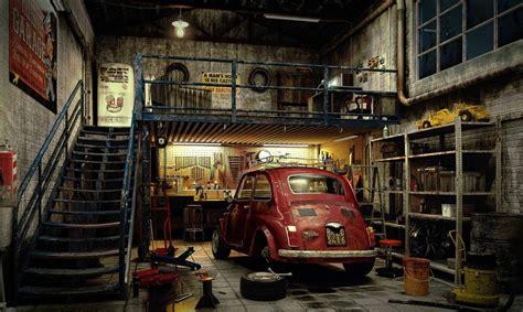 cuisine jaune et verte déco garage ancien déco sphair
