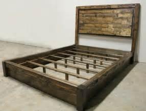 Rustic Platform Bed & Headboard