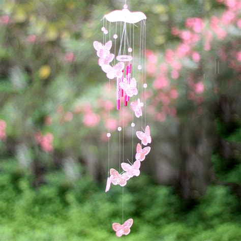 Creative Crystal Butterfly Wind Chime Bell Ornament Garden