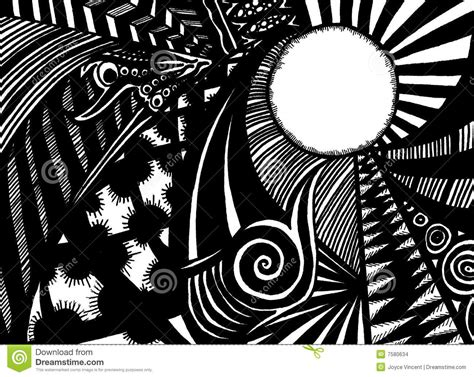 Abstract Black Marker by Black And White Doodle Stock Images Image 7580634
