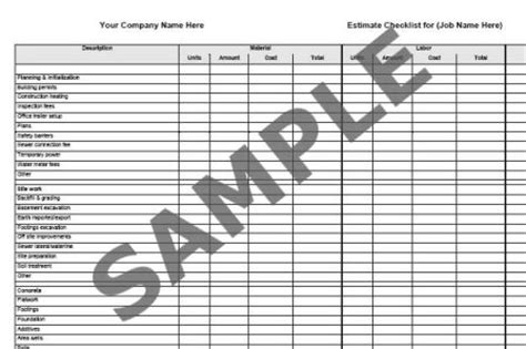 Material Takeoff Template by 9 Best Images Of Free Printable Electrical Material List