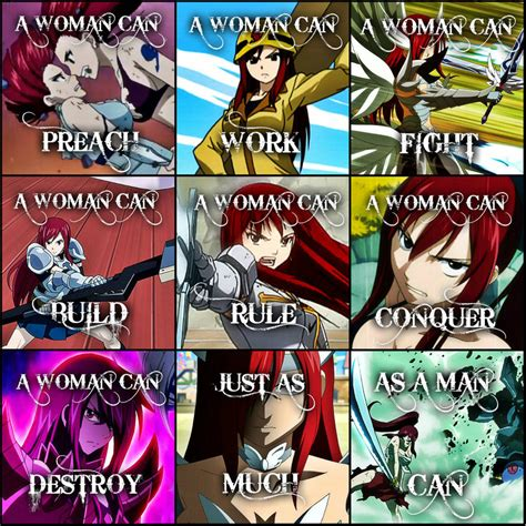 fairy tail a woman can erza scarlet by flames keys on