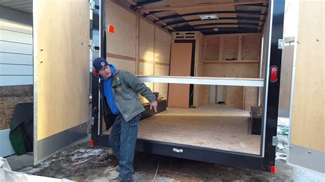 Enclosed Bed by Ceiling Bed For A Enclosed Trailer Remodel