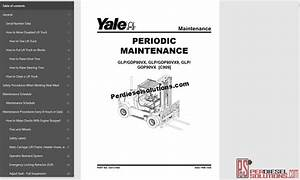 Yale Forklift Trucks Service Manuals All Class  06 2019