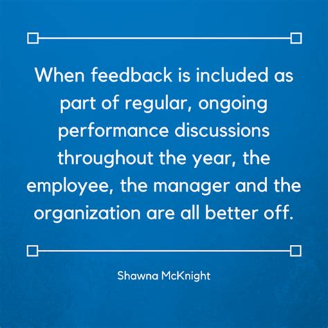 feedback  included  part  regular ongoing
