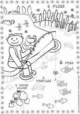 Coloring Pages Fishing Pond Social Studies Lois Activities Fish Ponds Science Study Colors Children Reading Ehlert Water Fun Composition Books sketch template