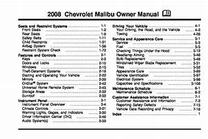 2008 Chevrolet Malibu Owners Manual
