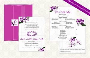 thai orchid 01 classic wedding invitation kalidad prints With wedding invitation printing services philippines