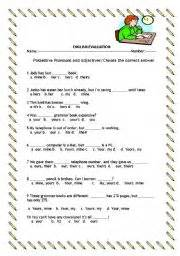 possessive pronouns and adjectives esl worksheet by iveli