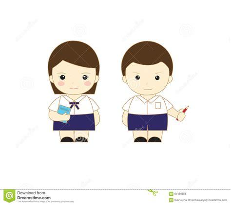 student cute kids stock illustration image  asian