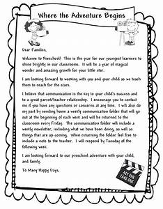 1000 ideas about preschool welcome letter on pinterest With letter to parents template from teachers