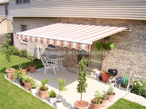 manual or motorized garden patio shade shelter aluminium
