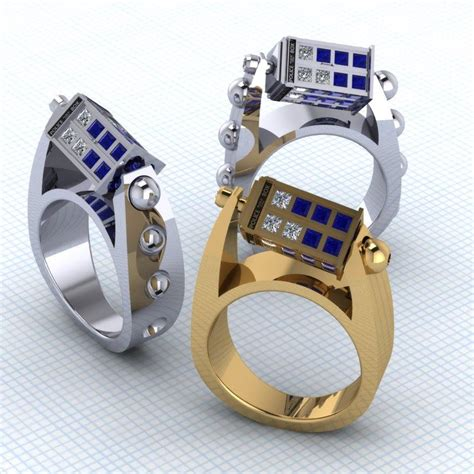 doctor who inspired spinning tardis rings geektyrant