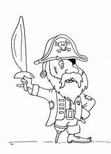 Pirate Pirates Coloring Coloriage Pages Bois Jambe Few Printable sketch template