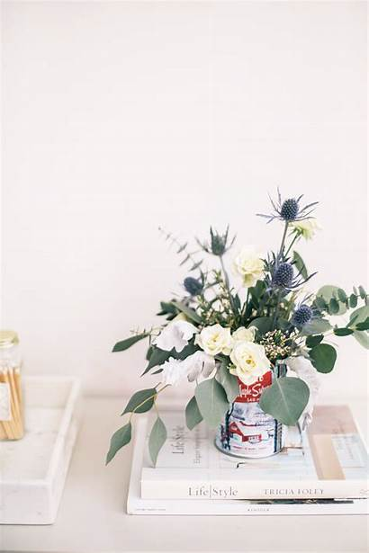 Floral Centerpiece Winter Arrangement Tin Diy Flowers