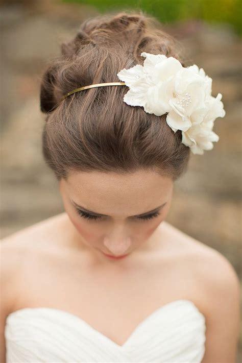 silk flower headband floral headpiece bridal fascinator