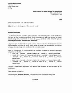 Lettre De Changement D Adresse : letter of application modele de lettre changement horaire de travail ~ Gottalentnigeria.com Avis de Voitures