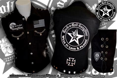 Wear It Loud & Proud! Tm Denim Biker Vest With Custom