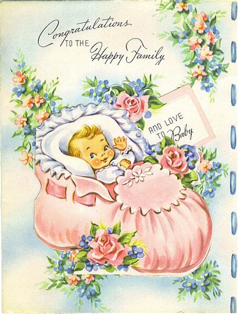 congratulations   happy family vintage cards