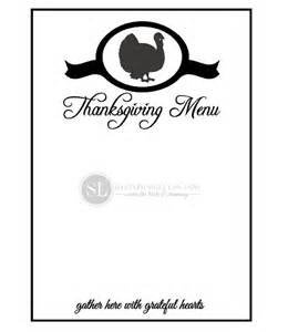 printable thanksgiving menu template printables with the silhouette machine