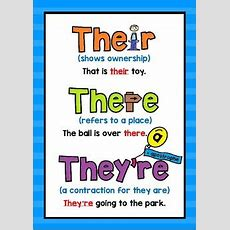 Their, There And They're Poster By Penny Lane  Teachers Pay Teachers