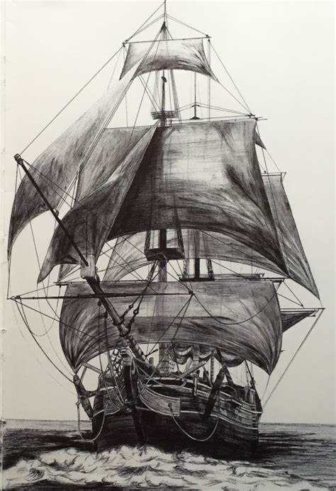 Boat Drawing Tattoo by Pirate Ship Drawing Tumblr
