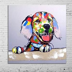 main peinture animaliere vente chaude colore chien salon With liste des couleurs chaudes 6 toile contemporaine dans tableau dartiste achetez au