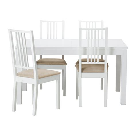 chaises blanches ikea bjursta börje table et 4 chaises ikea
