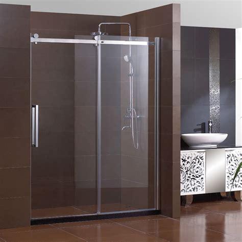 60 inch shower door shower 60 quot semi frameless sliding shower doors 5 16 3934