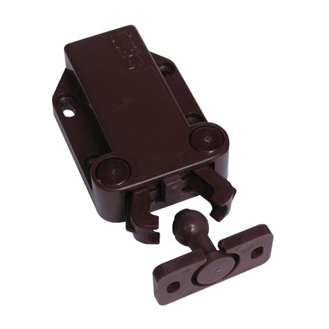 magnetic push latch cabinet shop sugatsune brown magnetic cabinet latch at lowes com