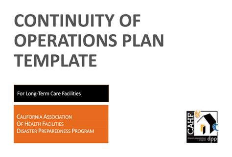 Bcbsnc Continuity Of Care Form by Cahf Continuity Of Operations Plan Template Cdph