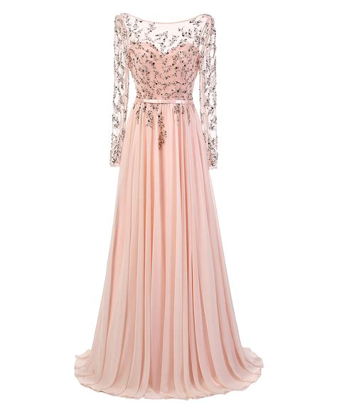Boat Neck Dress Pink by Buy A Line Boat Neck Sleeves Beading Pink